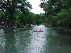 Raftoing on the Guadalupe River in Gruene, Texas
